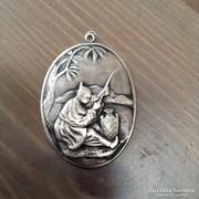 Régi kínai ezüst medál