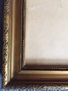 Arannyal festett, üvegezett,fa képkeret + 1