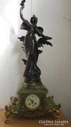 Brutális nagy antik Francia márvány kandalló óra 82cm!!