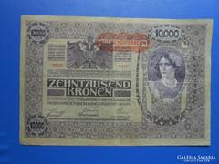 Ritka ropogós 10000 korona 1918 / 2
