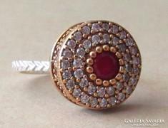 Turbán alakot formázó ezüst gyűrű