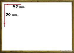 0H094 Régi aranyozott képkeret 30 x 43 cm