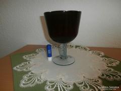 Óriási bordó kehely pohár