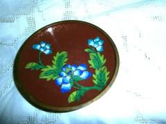 Cloissoné zománc (Rekesz zománc) tálka 9,5 cm