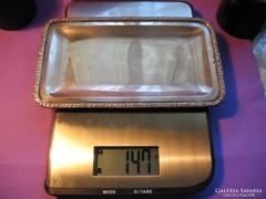 Ezüst téglalap alakú kínáló tál tálca 800-as 147 g 1867-1937