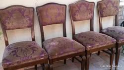 4 db art deco kárpitos szék