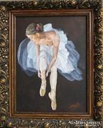 Szilárd Anikó: Balerina + gyönyörű képkeret