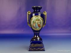 0H177 Régi kobaltkék Altwien porcelán urna váza