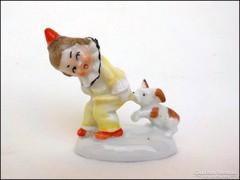 Pajkos antik apró porcelán figura W&A