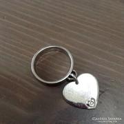 Maria Cristina ezüst gyűrű gyémánt kővel