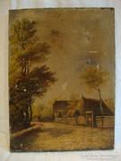 Karczaghy József '903 o-v várakozó asszony festmény
