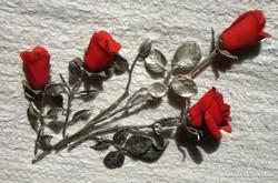 Maradandó rózsa csokor - 5 szál
