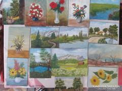 15 db festmény mai kortárs festőművészektől