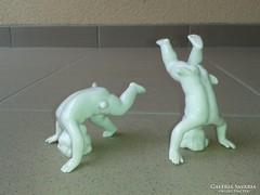 Kedves Schaubachkunst bukfencező fejenálló porcelán gyerekek