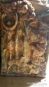 Antik faragott fatábla: A Csodaszavas
