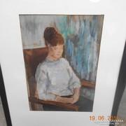 Eladó női alakot ábrázoló festmény, Szemere Ágnes