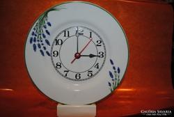 Hollóházi porcelán levendulás óra