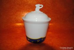 Hollóházi porcelán tchibó cukortartó