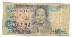 1000 rupiah 1980. Indonézia.