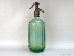 0G726 Régi feliratos zöld szódásüveg VETŐ 1949
