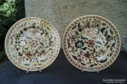 Zsolnay antik 2 db perzsa mintás tányér 1880 körül