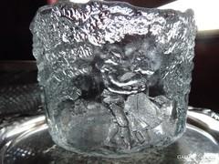 Régi üveg  jégtartó táncoló párokkal