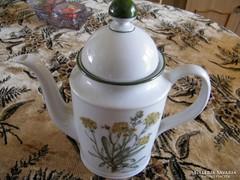 Gyógynövénymintás tea kiöntő 19 cm fedele nk