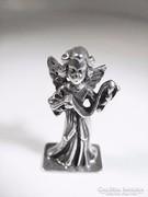 Ezüst kígyót tartó angyalka ( Szeg-Bi19289)