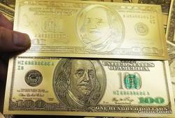 24 karátos arany bevonatú 100 dollar HI68688686A I8-as
