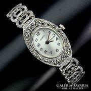 925-ös ezüst óra,markazitokkal