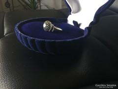 Régi ezüst áttört gyűrű