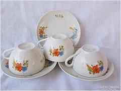 Antik Zsolnay pipacsos kévés csésze + alátét pótlásnak