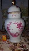 Herendi porcelán fedeles váza