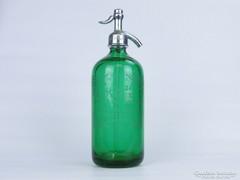 0D890 Gyűjtői antik amerikai zöld szódásüveg USA
