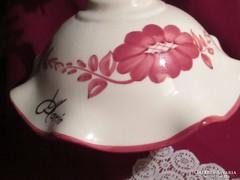 Régi kézzel festett porcelán mennyezeti lámpa    0809