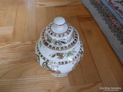 Zsolnay Urna Váza virágmintás kézzel festett