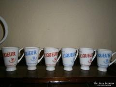 6 db Calsbad gyógylikőrős porcelán pohár 350/db