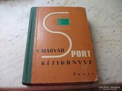 A magyar sport kézikönyve 1960-as kiadás eladó!