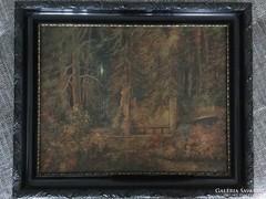 Erdőrészlet festmény olaj/vászon