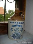 Amerikai whiskys kő palack