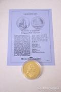 Történelmi aranypénzek sorozat - II. Ágost 1717