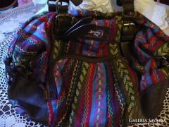 Színes textil női táska