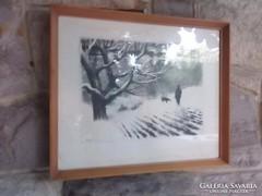 Kórusz J.1965 Vadászaton 48x39 cm