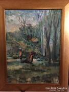 Eredeti festmény Mezei Sándortól, original oil painting