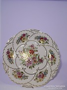 Zsolnay virágmintás falitányér