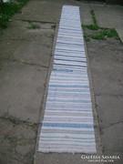Régi rongy szőnyeg, pokróc - 5 méteres