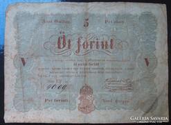 Kossuth bankó 5 Ft-1848