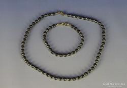 0H554 Igényes gyöngy bizsu karkötő és nyaklánc