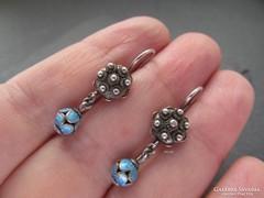 Zománc fülbevaló feltehetőleg régebbi kínai - ezüst ékszer