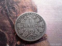 1875 ezüst 1 márka 5,5 gramm 0,900 patina